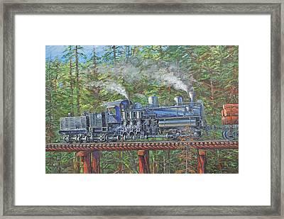 Pushin' Framed Print by Gary Symington