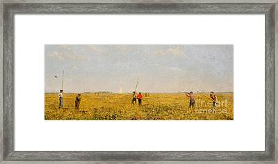 Pushing For Rail, 1874 Framed Print
