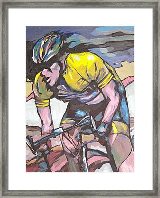 Pushing It To The Limit Framed Print by Sandy Tracey
