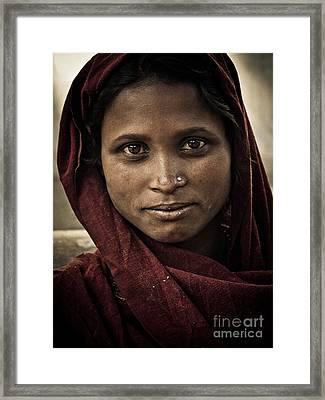 pushkar girl III Framed Print