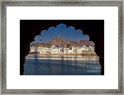 Framed Print featuring the photograph Pushkar Lake by Yew Kwang