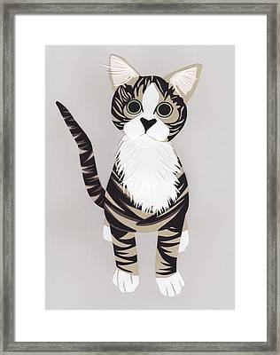 Pussycat Framed Print by Isobel Barber