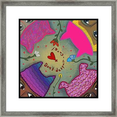 Framed Print featuring the digital art Pussyhat Power #2 by Marti McGinnis