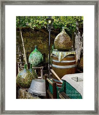 Put A Cork In It Framed Print