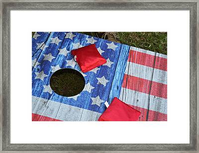 Put It In The Hole Framed Print