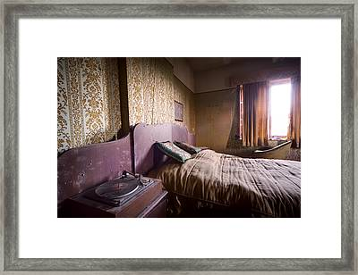 Put On A Record Nighttime Music - Urban Exploration Framed Print by Dirk Ercken