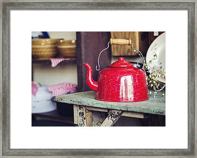 Put The Kettle On Framed Print by Heather Applegate