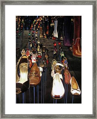Put Your Shoes ... Framed Print by Juergen Weiss