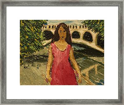 Putah Creek Bridge Framed Print