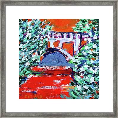 Putah Creek Bridge On Campus Framed Print