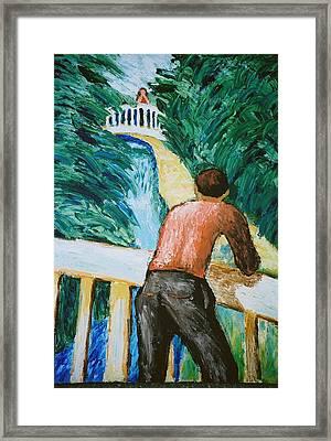 Putah Creek Bridges Framed Print