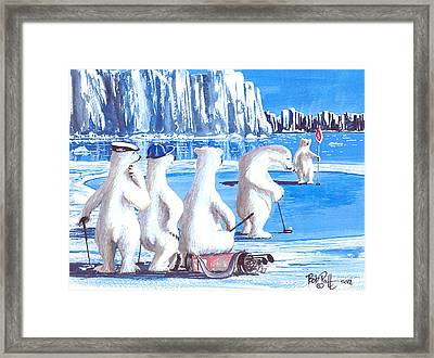 Putt For Dough Framed Print by Bob Patterson