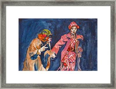 Framed Print featuring the painting Puttin On The Nose by P Maure Bausch