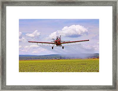 Putting It Down - Ag Pilot - Crop Duster Framed Print by Jason Politte