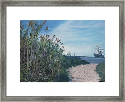 Putting Out To Sea Framed Print