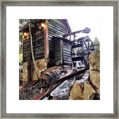 Rustic Water Wheel Framed Print by Jen McKnight