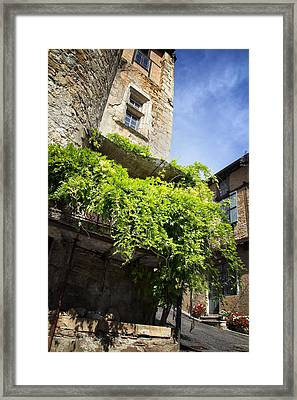 Puy L'eveque Old Stone House Framed Print by Georgia Fowler