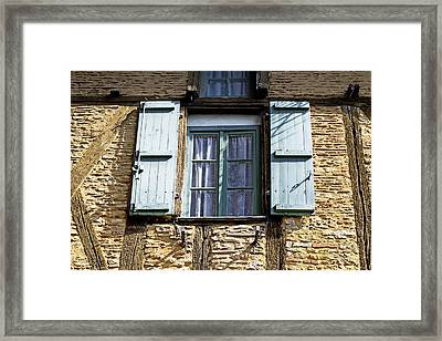 Puy L'eveque Window Framed Print
