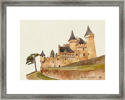 Puymartin Castle Framed Print