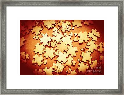 Puzzle Of Love Framed Print by Jorgo Photography - Wall Art Gallery