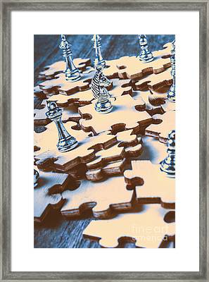 Puzzle Of Mysteries And Strategy Framed Print by Jorgo Photography - Wall Art Gallery