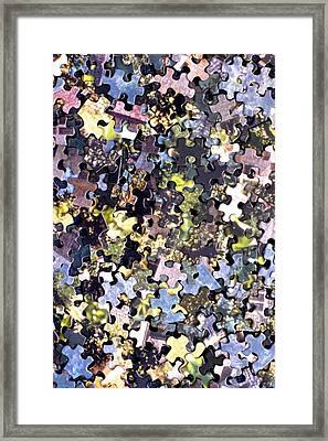 Puzzle Piece Abstract Framed Print by Steve Ohlsen