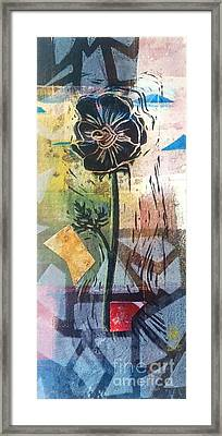 Puzzled Floral Framed Print