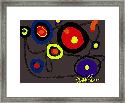 Puzzled In A Pool Of Thought Framed Print
