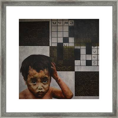 Puzzled Framed Print by Mark Lester Rodriguez