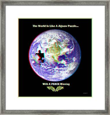 Puzzling - 3d Stereo Anaglyph Framed Print
