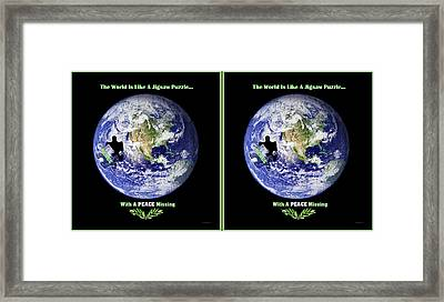 Puzzling - X-view Stereo Framed Print