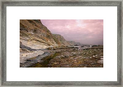 Pv Cliffs Framed Print