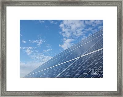 Pv Sky Framed Print by David Shaffer