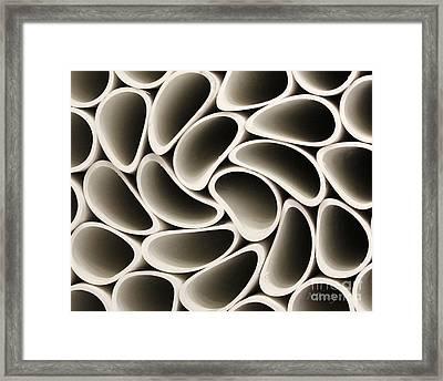 Pvc Pipe Twirl Framed Print