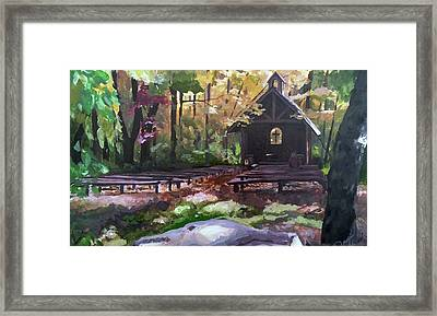 Pvm Outdoor Chapel Framed Print