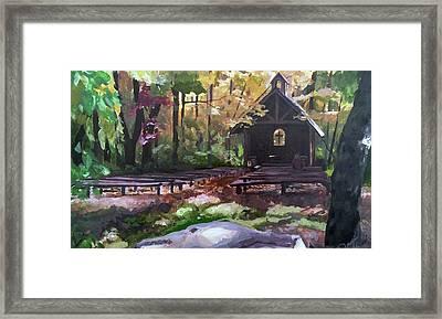 Pvm Outdoor Chapel Framed Print