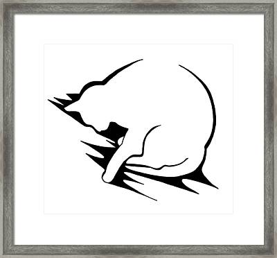 Framed Print featuring the drawing Py by Keith A Link