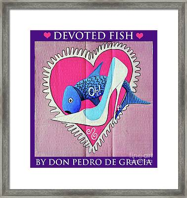 Devoted Fish Framed Print by Don Pedro De Gracia