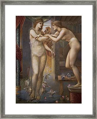 Pygmalion And The Image  Framed Print by Edward Burne-Jones