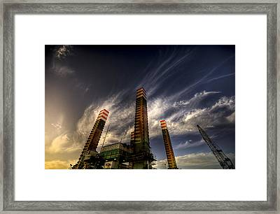 Pylons Framed Print by Wayne Sherriff