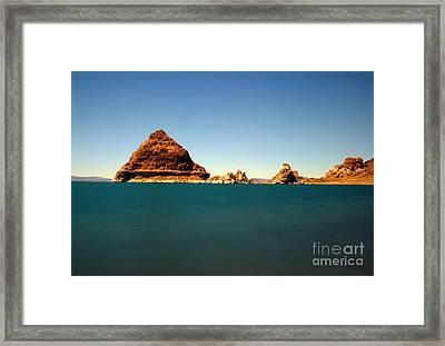 Pyramid Lake  Framed Print by Catherine Lau
