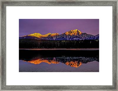 Framed Print featuring the photograph Pyramid Mountain 2006 01 by Jim Dollar