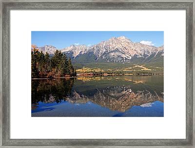 Pyramid Mountain And Pyramid Lake 2 Framed Print