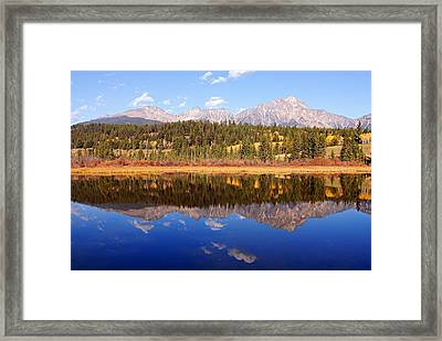 Pyramid Mountain Reflection Framed Print