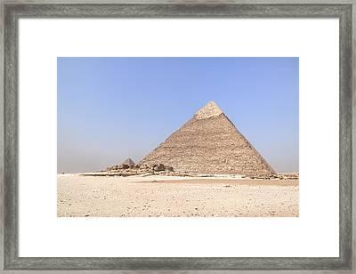 Pyramid Of Khafre - Egypt Framed Print by Joana Kruse