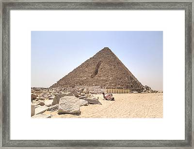 Pyramid Of Menkaure - Egypt Framed Print by Joana Kruse