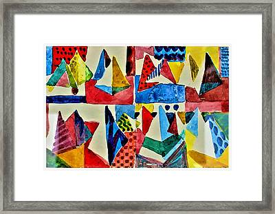 Framed Print featuring the digital art Pyramid Play by Mindy Newman