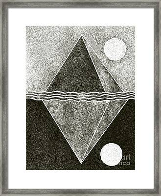 Pyramid Space And Time Framed Print by Norma Appleton