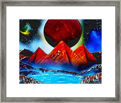 Pyramids 4663 E Framed Print