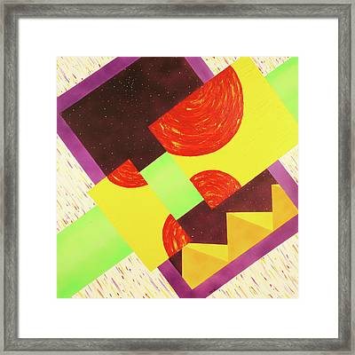 Pyramids And Pepperoni Framed Print